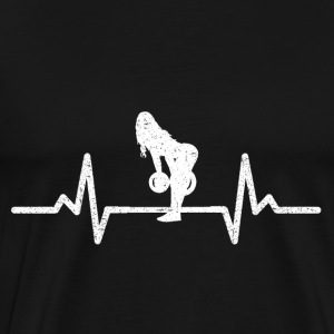 MY HEART BEATS FOR THE PUMP! (GYM WOMAN!) - Men's Premium T-Shirt