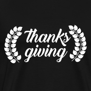 Tack Ge November Thanksgiving Pilgrim - Premium-T-shirt herr