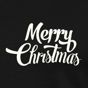 Merry Christmas Design - Premium T-skjorte for menn