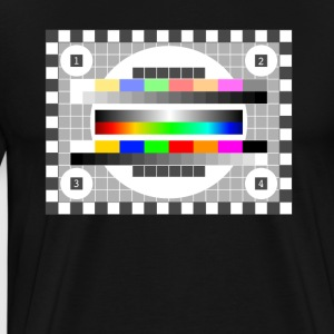 testbild color pattern retro stylish TV running - Men's Premium T-Shirt