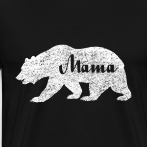 Mama White Bear Camping. Love Camping - Men's Premium T-Shirt