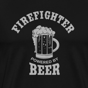 FIREFIGHTER powered by BEER - Men's Premium T-Shirt