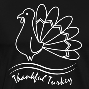 Thankful Turkey Thanksgiving Erntedank Dankbarkeit - Männer Premium T-Shirt