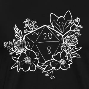 DUNGEONS 'n' FLOWERS - BLANC - T-shirt Premium Homme