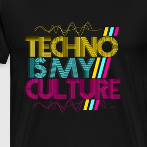 TECHNO EST MA CULTURE - T-shirt Premium Homme