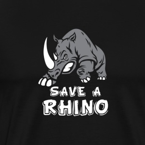 ANIMALS | SAVE A RHINO - Men's Premium T-Shirt