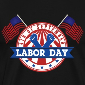 Labor Day mandag 4 september amerikansk Patriot - Herre premium T-shirt
