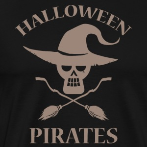 Halloween Pirates dölja kostym häxa pirater - Premium-T-shirt herr