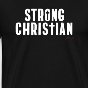 christ christian strong church believe Jesus pray - Men's Premium T-Shirt