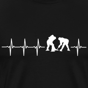 I love hockey (ice hockey heartbeat) - Men's Premium T-Shirt