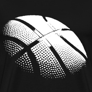 basketball hvit - Premium T-skjorte for menn