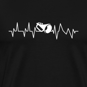Brass Band Trompet Heartbeat gave - Herre premium T-shirt