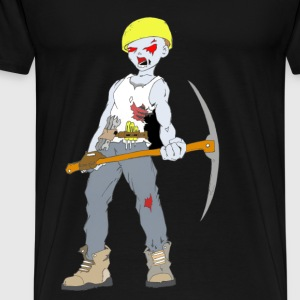 Builder Zombie Collection - Herre premium T-shirt