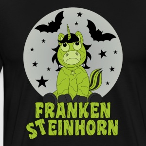 Frankensteinhorn unicorn as a Frankenstein in front of the moon - Men's Premium T-Shirt