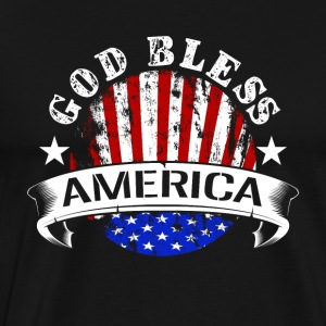 god bless america flag country grunge patriot - Men's Premium T-Shirt