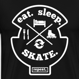 Eat Sleep Inliner Repeat Hobby Sport Shirt - Männer Premium T-Shirt