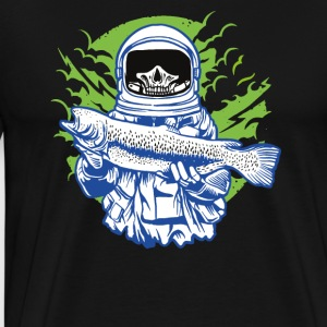 The skeletal astronaut while fishing. - Men's Premium T-Shirt