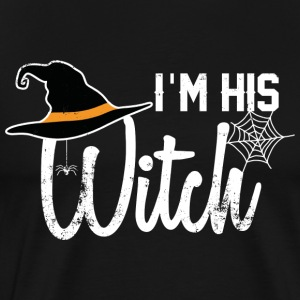 I'm His Witch - Funny Partner Shirt Halloween - Men's Premium T-Shirt
