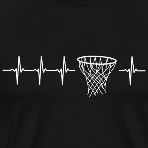 I love basketball (basketball heartbeat) - Men's Premium T-Shirt