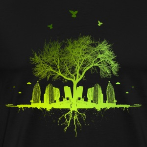 Green tree - nature tree city urban - Men's Premium T-Shirt