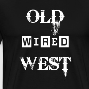 Old West fast Vit - Premium-T-shirt herr