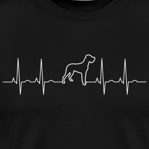 Dogge Ekg Dog Dog - Great Dane Danish Great Dane - Men's Premium T-Shirt