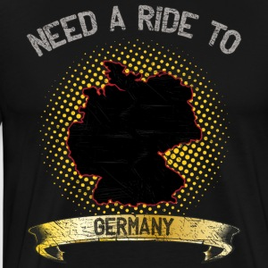 Need A Ride To Germany ➢ Travel Tramper - Männer Premium T-Shirt