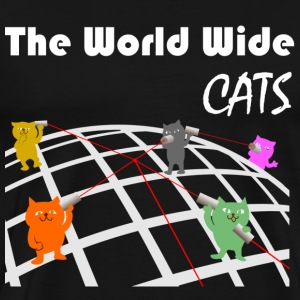 Het World Wide Cats - Mannen Premium T-shirt