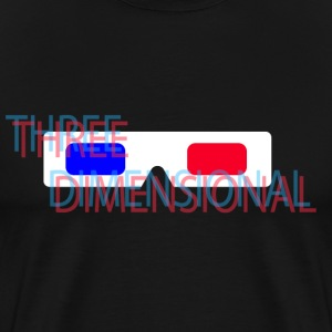 Three Dimensional - Men's Premium T-Shirt