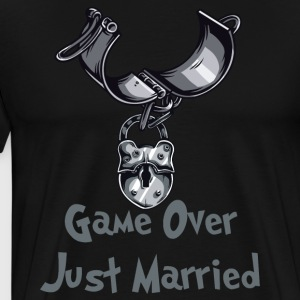 Game Over Just Married - Koszulka męska Premium