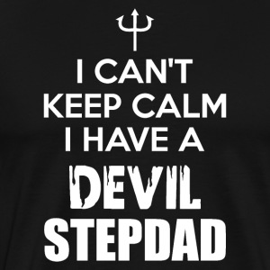 Devil Stepdad Keep Calm Daddy Pops Dad Poppy - Männer Premium T-Shirt