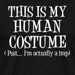 Human Costume Imp Halloween Leprechaun Witch Costume - Men's Premium T-Shirt
