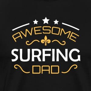 Surfing dad - Männer Premium T-Shirt