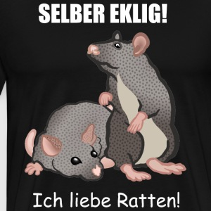 I Love Rats! - Premium T-skjorte for menn