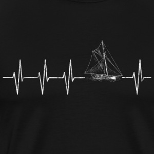 Sailing heart beat - Men's Premium T-Shirt