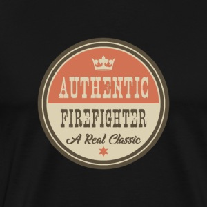 AUTENTISK FIREFIGHTER - FIREFIGHTER - Premium T-skjorte for menn