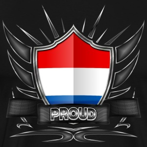 Netherlands flag crest Proud 012 - Premium T-skjorte for menn