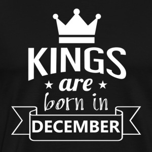 KINGS föddes i december - Premium-T-shirt herr