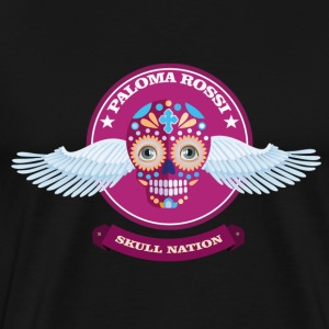 Paloma Rossi - Flying Skull Limited Edition - Premium-T-shirt herr