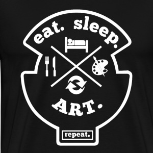 Eat Sleep Gjenta Art Hobby Sport Shirt - Premium T-skjorte for menn