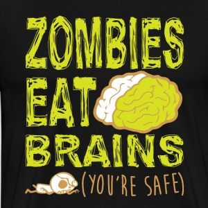 ZOMBIES EAT BRAINS T-SHIRT - T-shirt Premium Homme