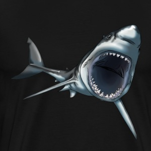 Grand requin blanc - T-shirt Premium Homme