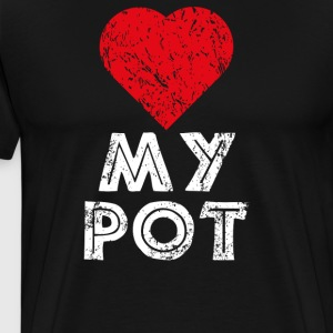 I love my pot - Männer Premium T-Shirt