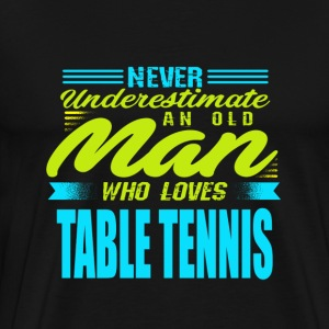 Old man table tennis - Men's Premium T-Shirt
