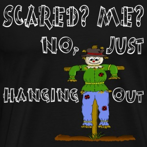 Farmer farm scarecrow scared hay hanging out - Männer Premium T-Shirt