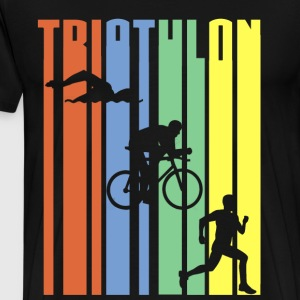 Triathlon - Striber - Herre premium T-shirt