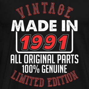 Vintage Made in 1991 - T-shirt Premium Homme
