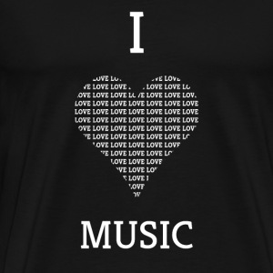 I LOVE MUSIC - Premium T-skjorte for menn