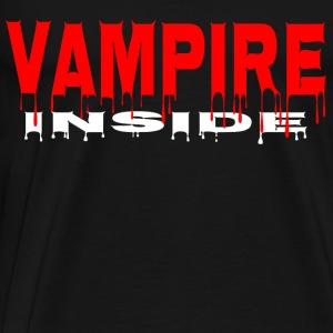 Scary Halloween Vampire inne Horror Blood blodig - Premium T-skjorte for menn