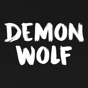 DemonWolf Text Logo - Premium T-skjorte for menn